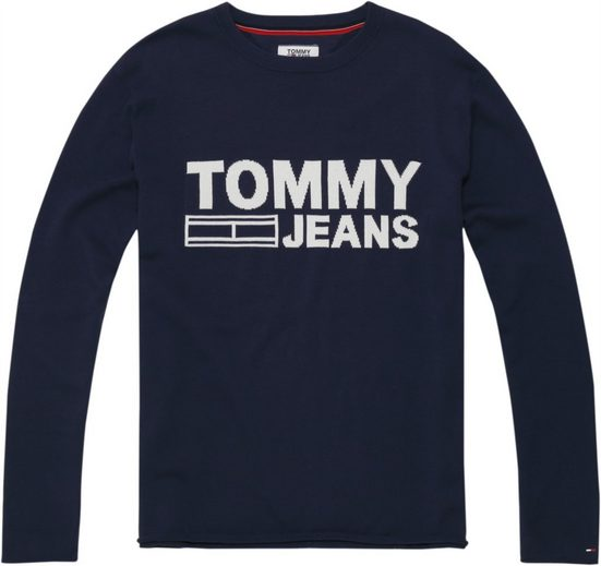 Tommy Jeans Pullover TJM SOLID LOGO SWEATER
