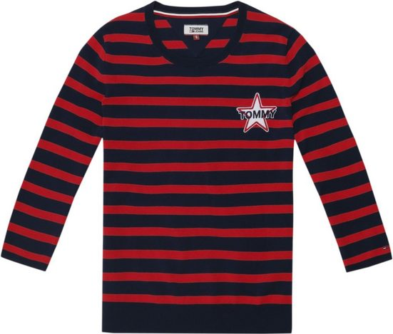 Tommy Jeans Pullover TJW STRIPE BADGE SWEATER