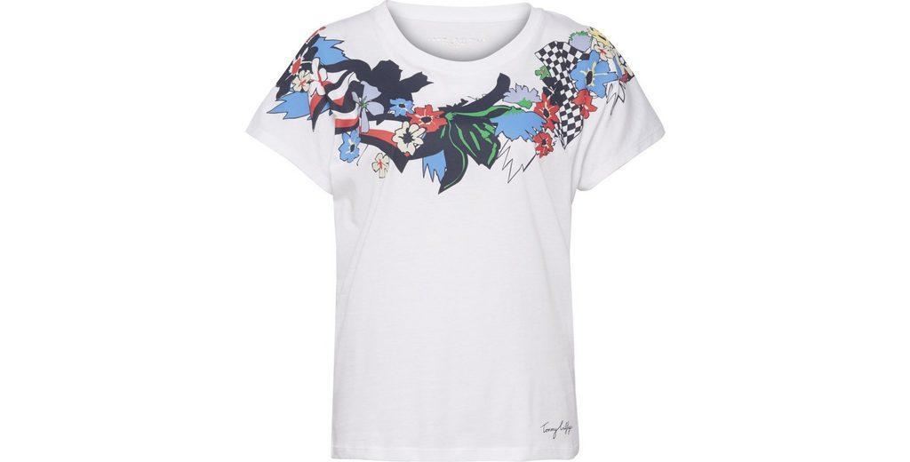 Verkauf Beliebt Tommy Hilfiger T-Shirt CARMA FLORAL TEE SS Auf Dem Laufenden Beliebt Und Billig jPj5CQ