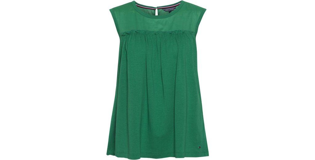 Billig Verkauf Ausgezeichnet Tommy Hilfiger T-Shirt CAROLA FABRIC MIX TOP Billig Vorbestellung Günstiger Preis Versandkosten Für 2018 Zum Verkauf Empfehlen Online kEgd66
