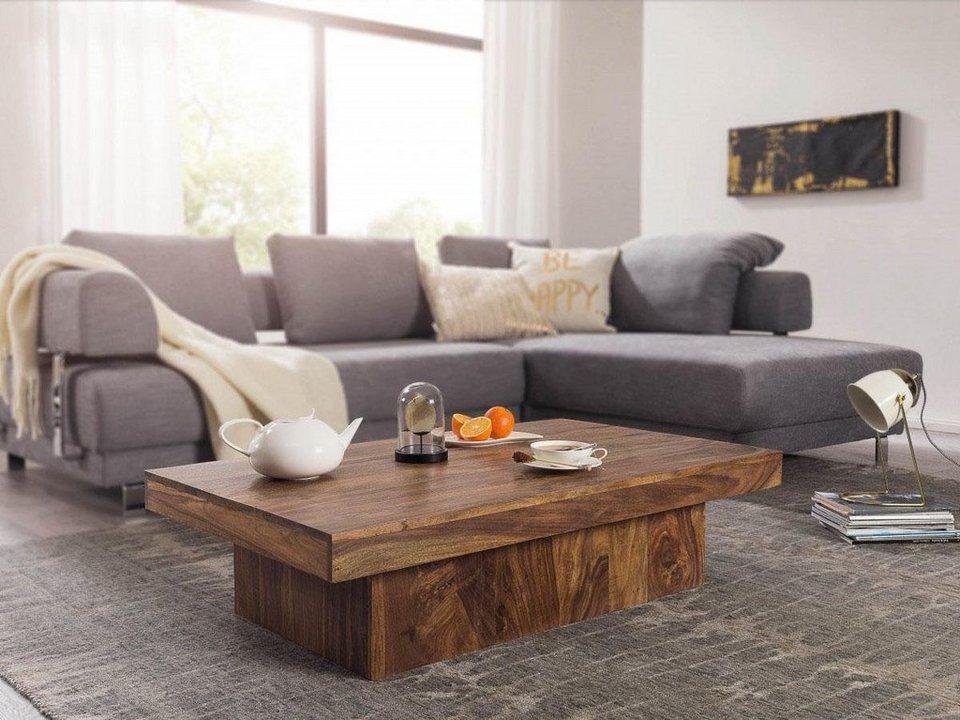 home affaire massivholz couchtisch akela 120 cm breit online kaufen otto. Black Bedroom Furniture Sets. Home Design Ideas
