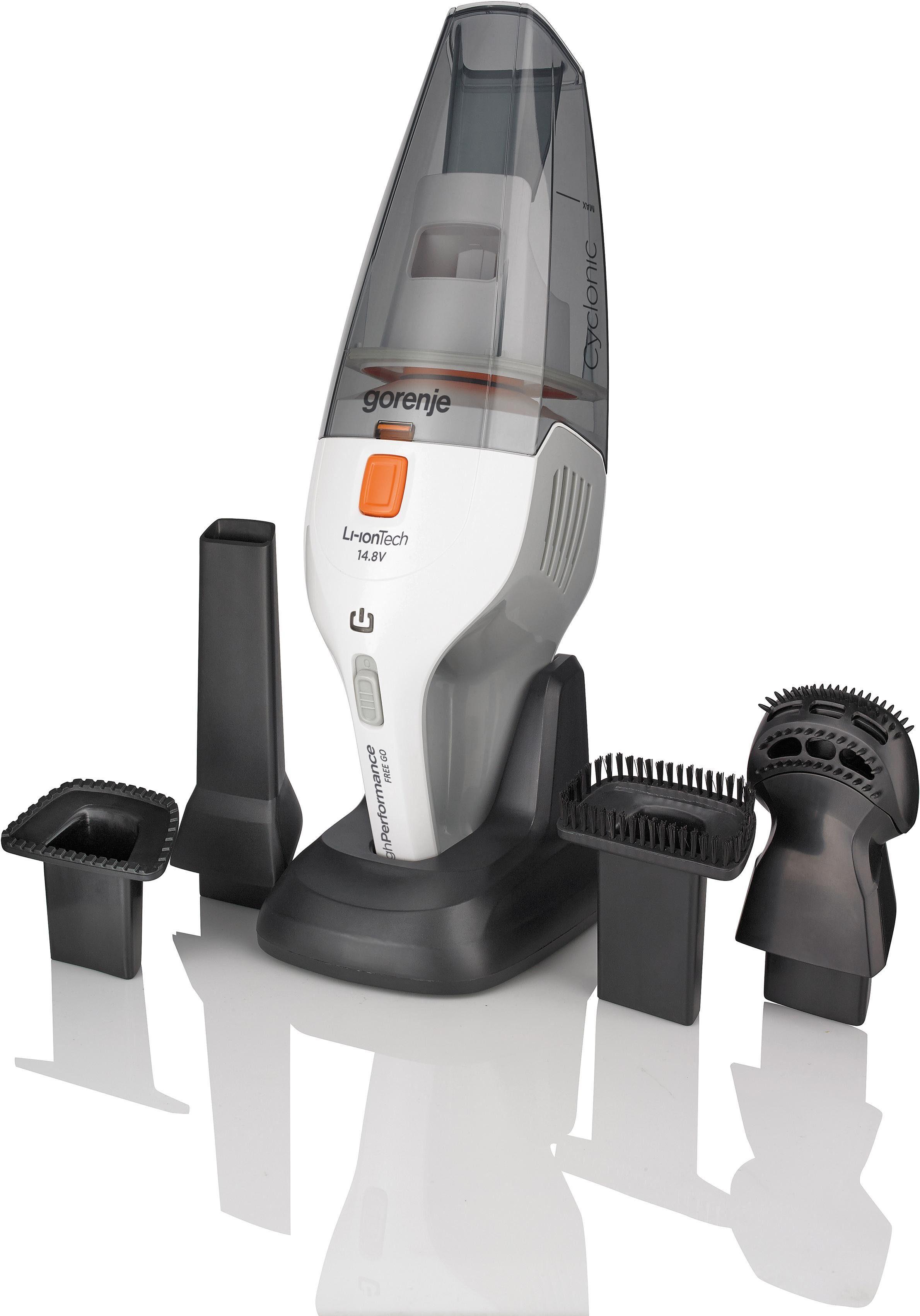 GORENJE Akku-Handstaubsauger MCV148FW FreeGo, 100 Watt, beutellos, Mit 2in1-Nass-und Trockensaug-Technologie