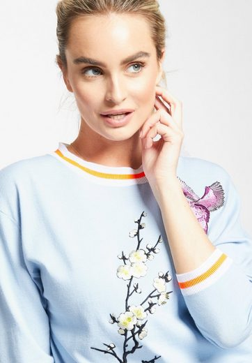 Khujo Crew-neck Sweater Afrodite, With Floral Embroidery