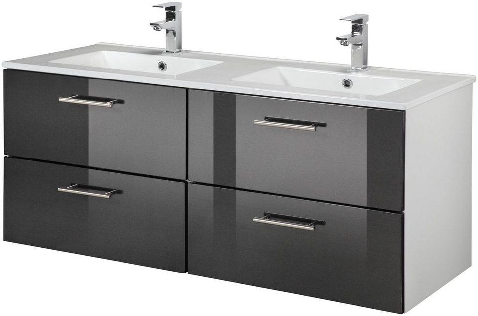 waschtisch trento breite 120 cm doppelwaschtisch doppelwaschbecken 2 tlg online kaufen. Black Bedroom Furniture Sets. Home Design Ideas