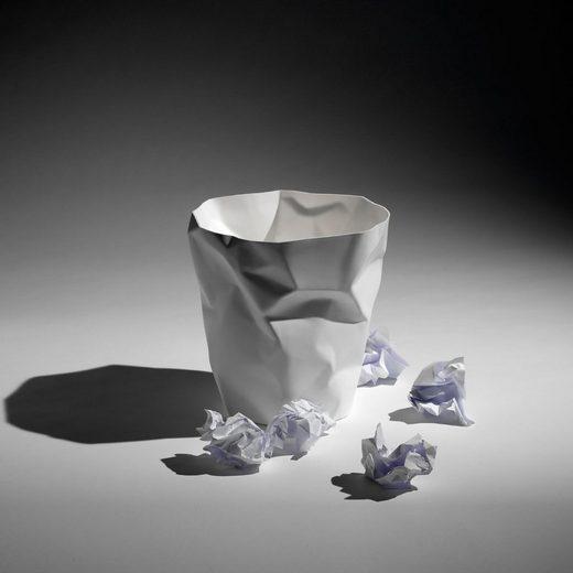 Klein & More Essey Papierkorb BIN BIN weiß