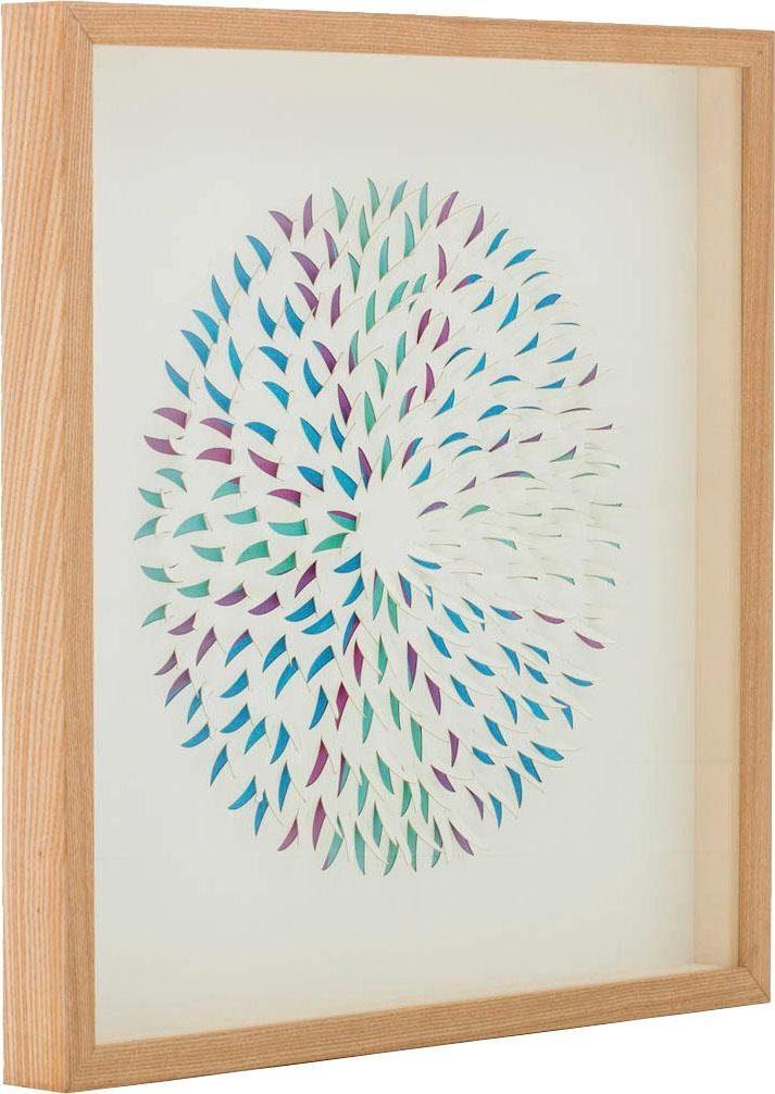 Wandbild »Papierkunst Circle II«, 60cm x 60cm