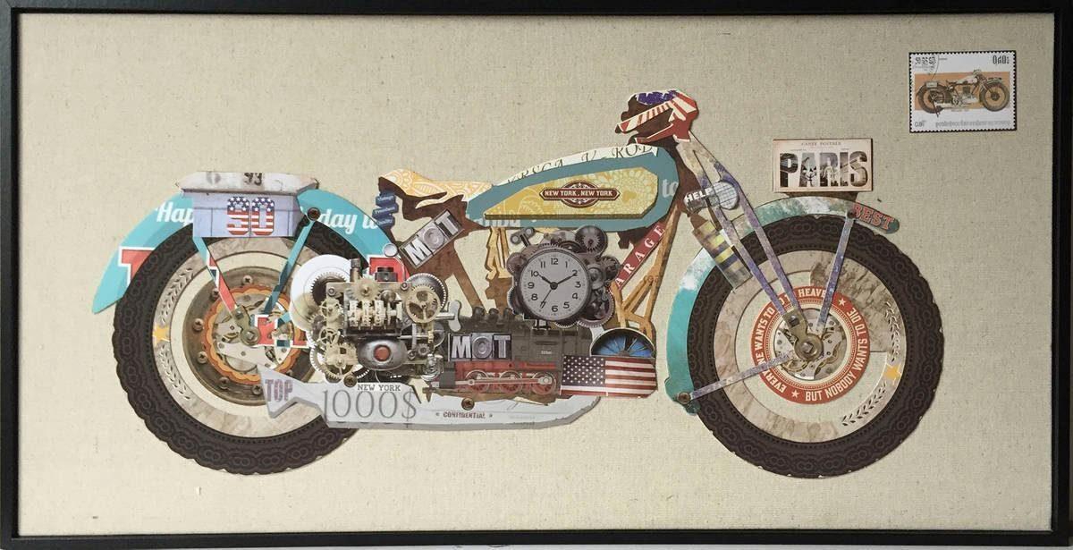 Wandbild »Motorrad I«, 82cm x 42cm