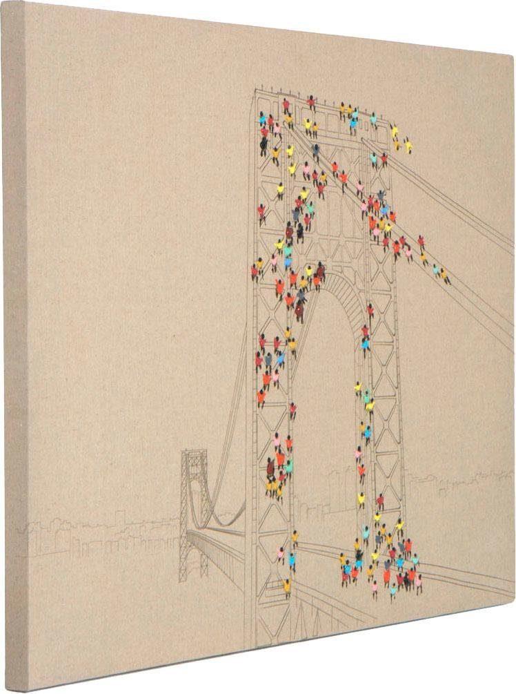 Kayoom Ölbild »Menschenmenge II«, 100cm x 75cm