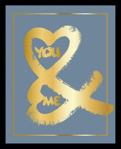 G&C Bild »YOU & ME II BLUE«, gerahmt