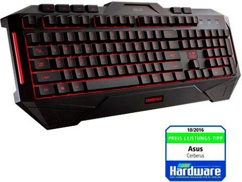 Asus »Cerberus« Gaming-Tastatur (Antirutsch-Füße, Ziffernblock, Multimedia-Tasten, Makrotasten)
