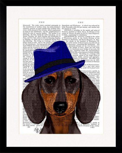 G&C Bild »NEWSPAPER HAT DOG II«, gerahmt