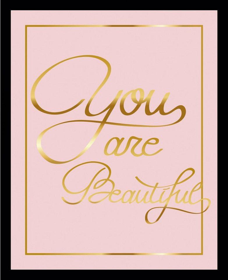 G&C gerahmtes Bild YOU ARE BEAUTIFUL II rosa | OTTO