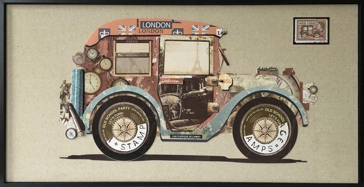 Wandbild »Bloomsbury Car«, 82cm x 42cm