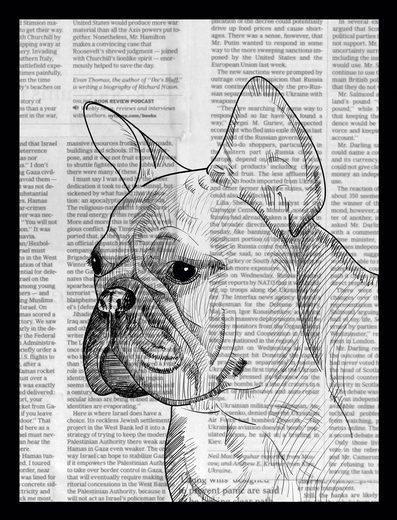 G&C Bild »NEWSPAPER BULLDOG III«, gerahmt