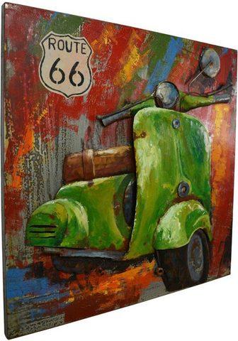 KAYOOM Paveikslas »Metall Motorroller«