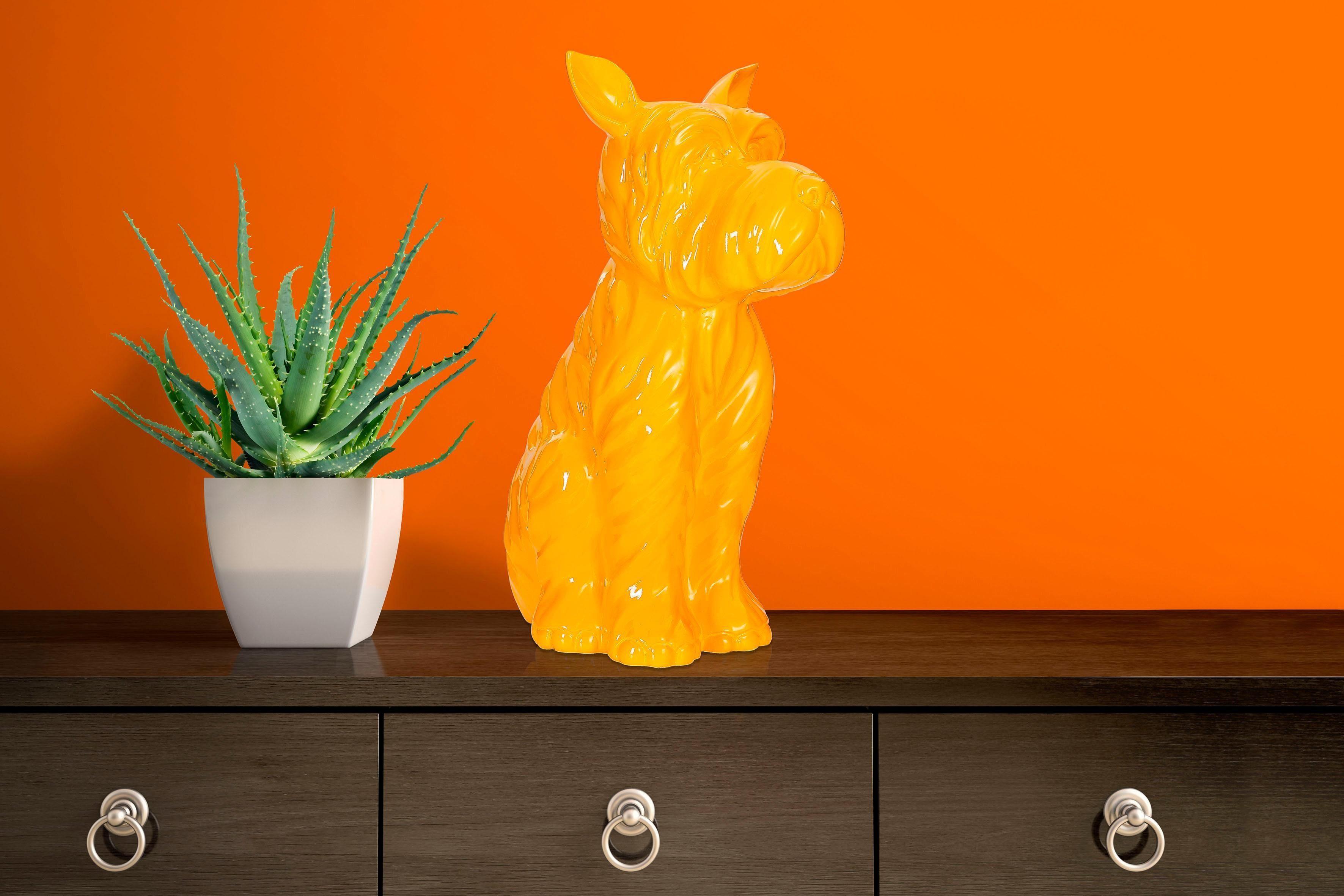 Home affaire Skulptur »Terrier I Gelb«