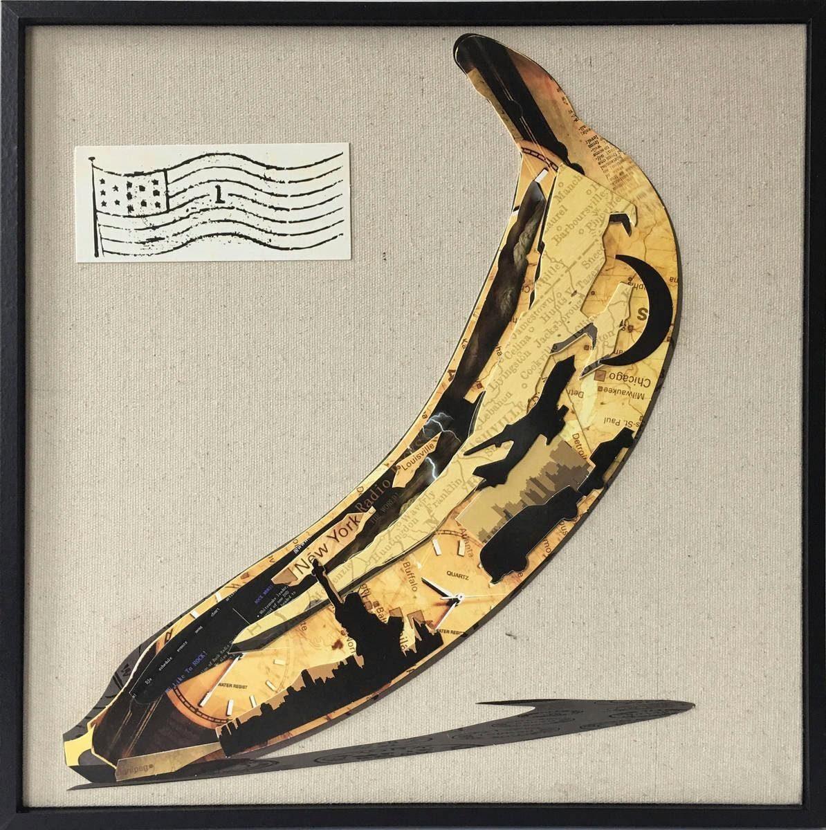Wandbild »Banana«, 42cm x 42cm