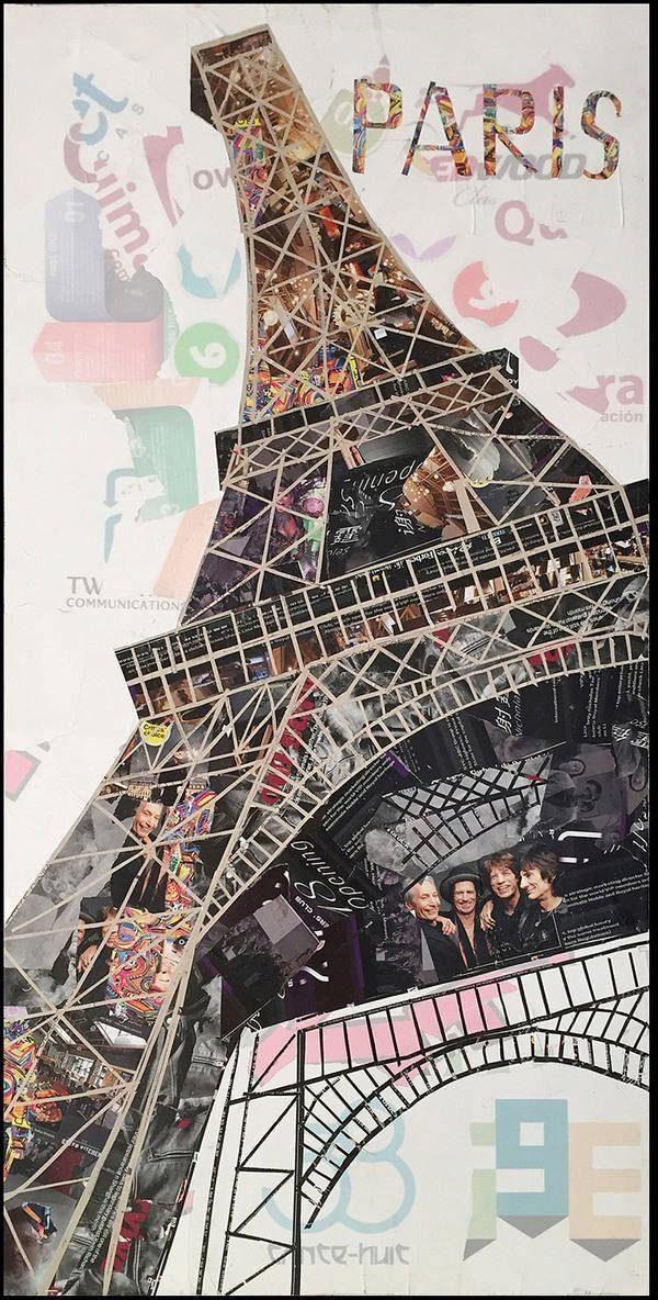 Wandbild »Eiffelturm II«, 52cm x 102cm