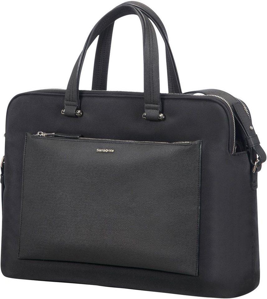 Samsonite Businesstasche »Zalia, 2 Fächer«, mit 14,1-Zoll Laptopfach | Taschen > Business Taschen > Sonstige Businesstaschen | Schwarz | Samsonite