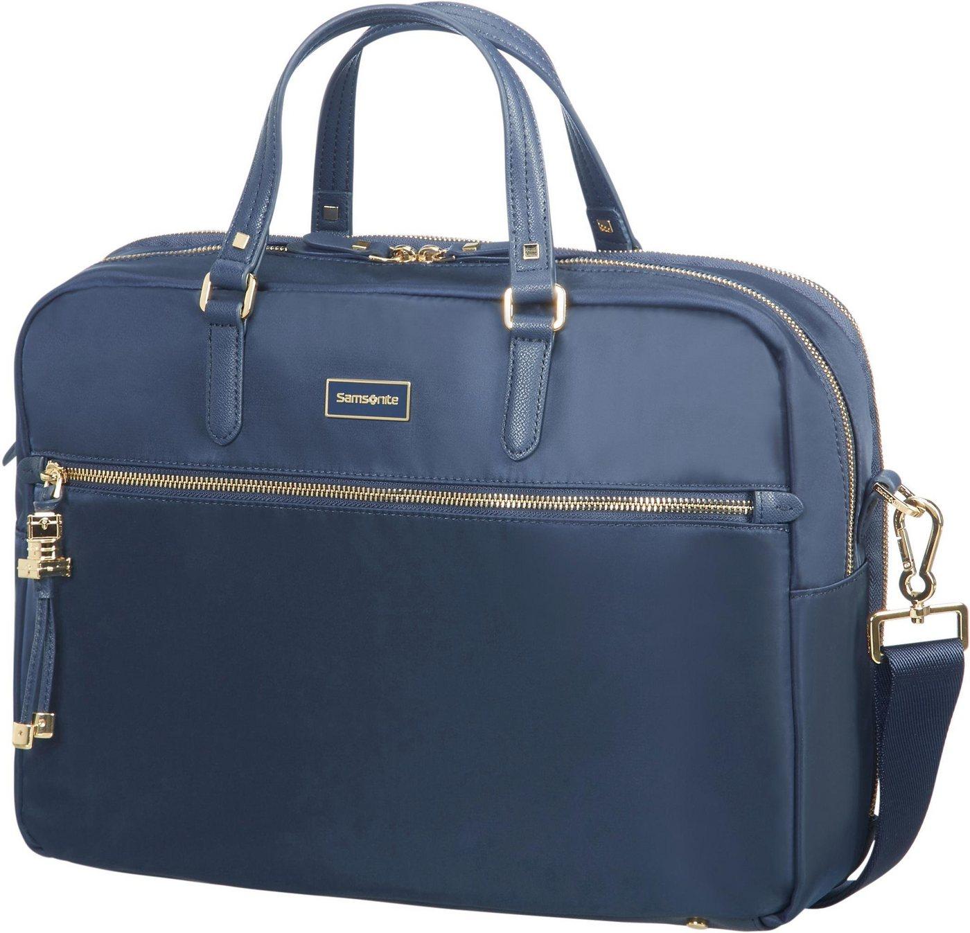Samsonite Businesstasche »Karissa Biz, 2 Fächer«, mit 15,6-Zoll Laptopfach | Taschen > Business Taschen | Blau | Samsonite