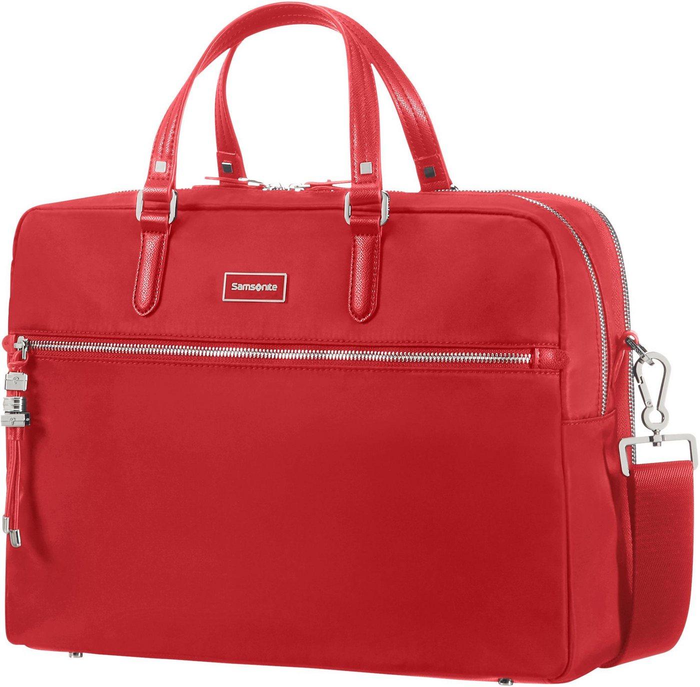 Samsonite Businesstasche mit 15,6-Zoll Laptopfach, »Karissa Biz, 2 Fächer« | Taschen > Business Taschen | Rot | Samsonite