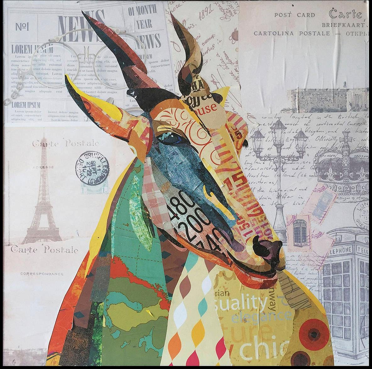 Wandbild »Gazelle«, 72cm x 72cm