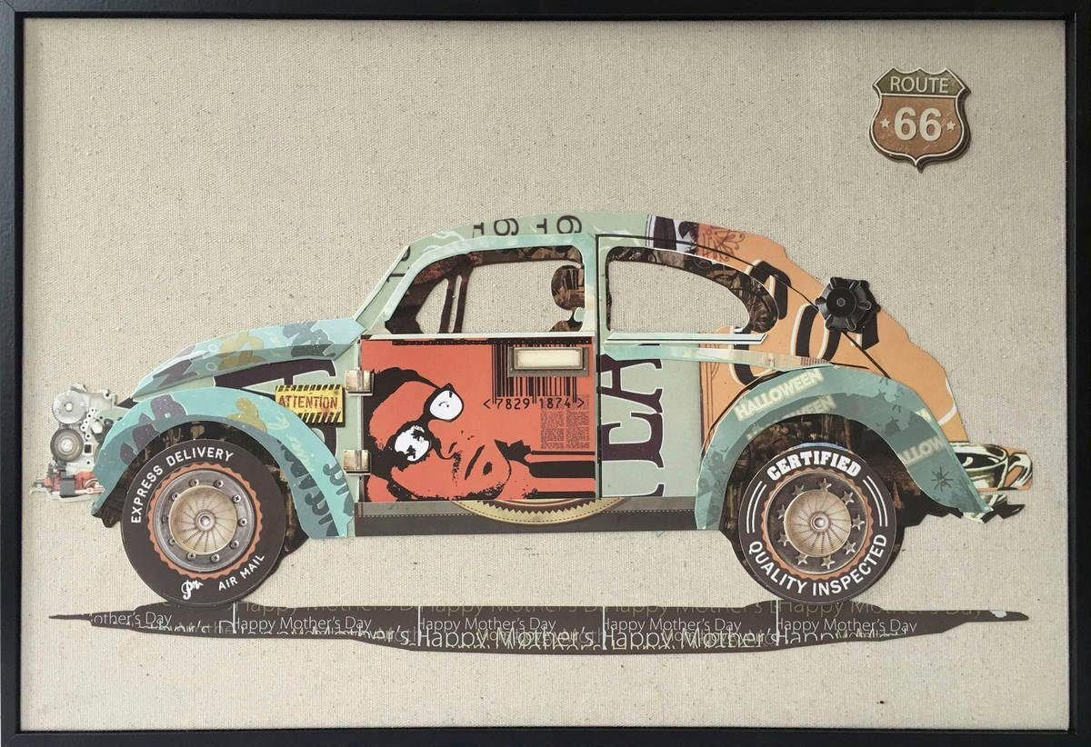Kayoom Wandbild »Automobil«, Auto, 62cm x 42cm