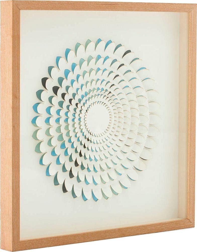 Wandbild »Papierkunst Circle I«, 60cm x 60cm