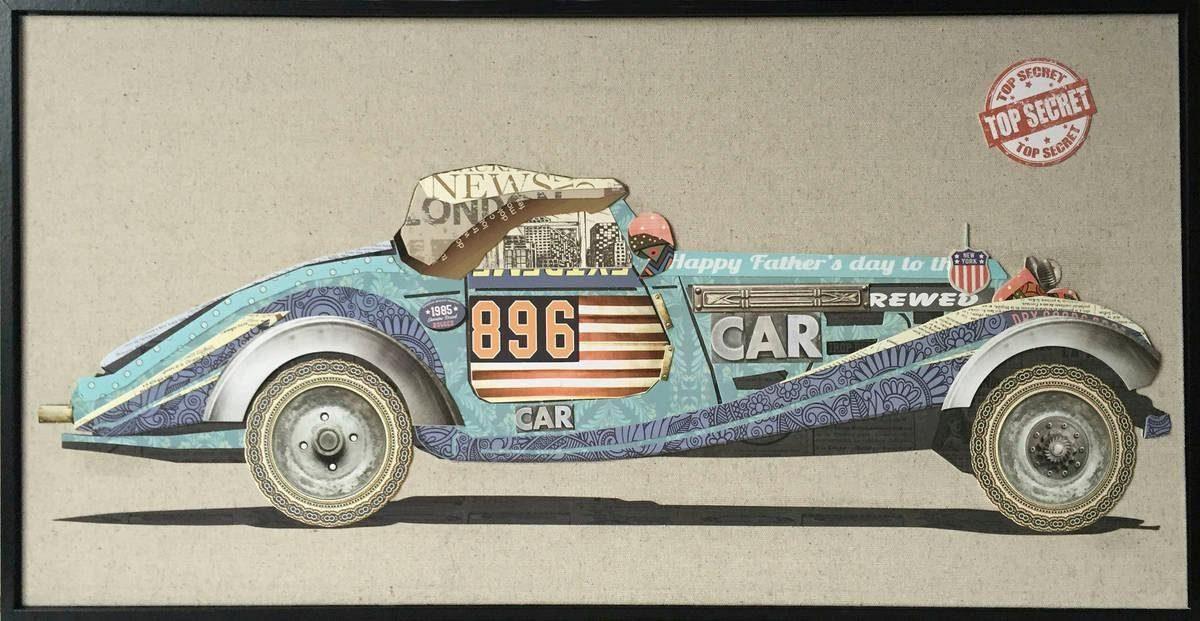 Wandbild »Rennwagen I«, 82cm x 42cm