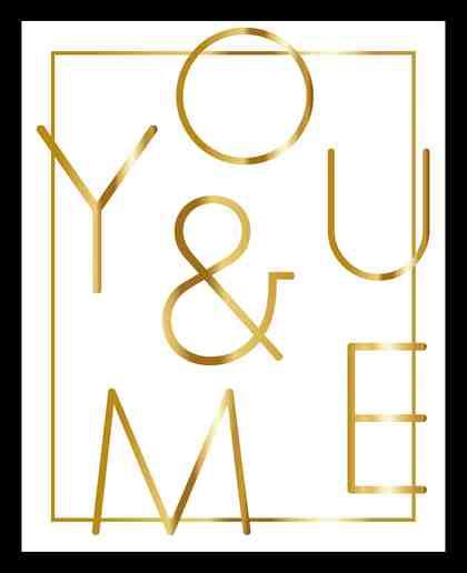 G&C gerahmtes Bild YOU & ME WHITE