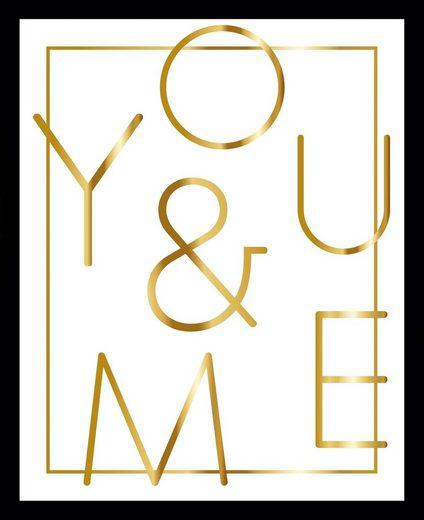 G&C Bild »YOU & ME WHITE«, gerahmt