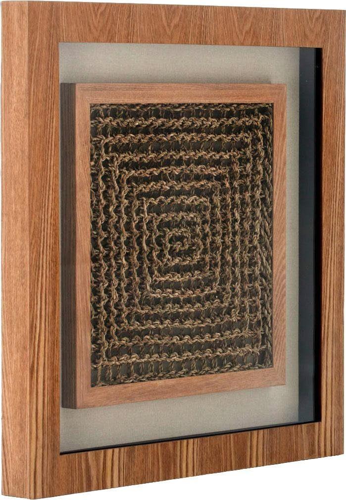 Kayoom Wandbild »Holzkunst Carré II«, 60cm x 60cm