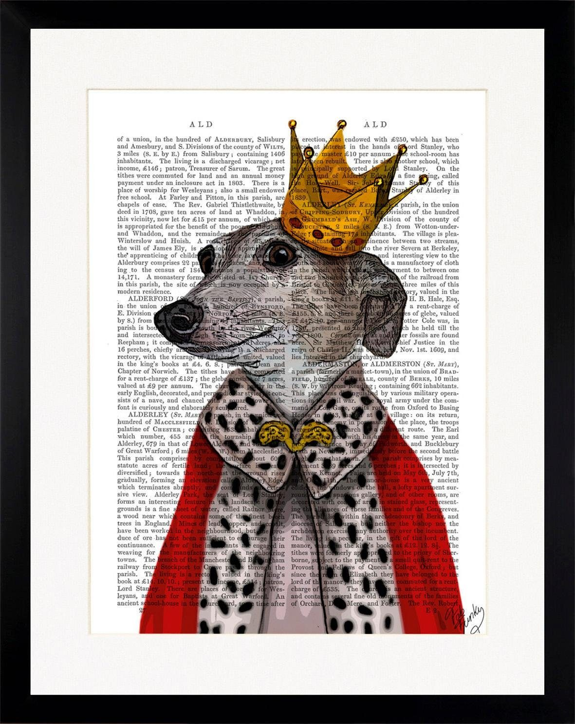 G&C gerahmtes Bild NEWSPAPER ROYAL DOG 35/45 cm
