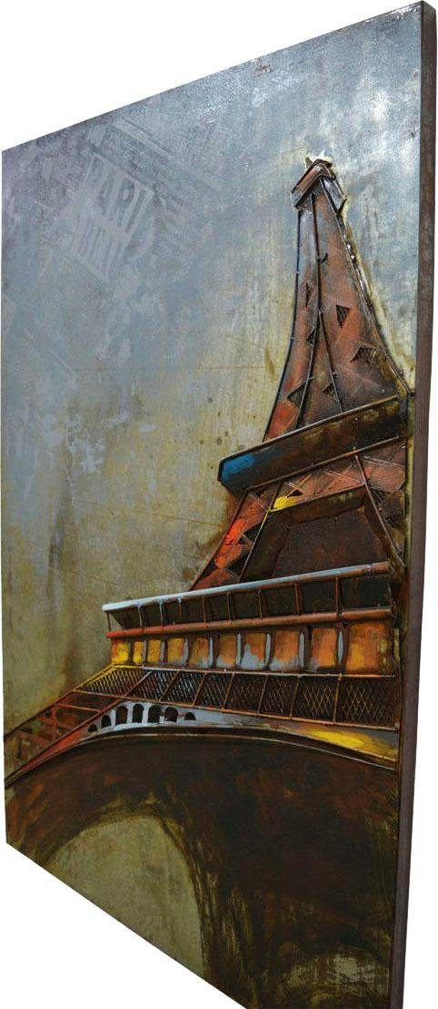 Wandbild »Metall Eifelturm I«, 80cm x 120cm