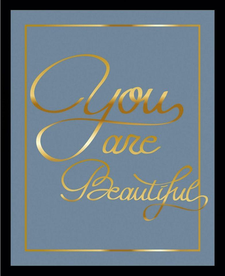 G&C gerahmtes Bild YOU ARE BEAUTIFUL II blau | OTTO