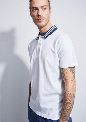 Otto Kern Polo-Shirt mit farbig abgesetztem Kragen