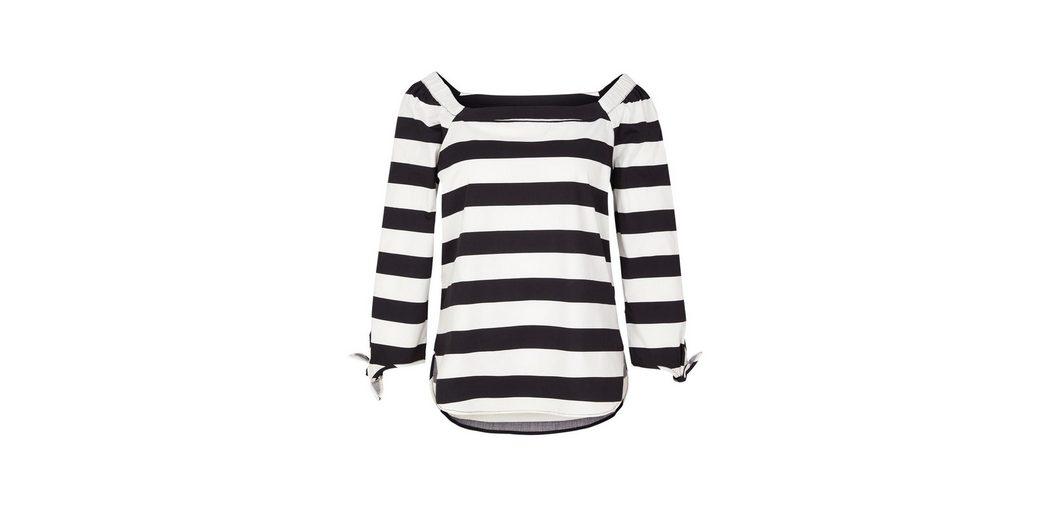 Billigsten Günstig Online s.Oliver BLACK LABEL Gemusterte Off Shoulder-Bluse Spielraum Bestseller Spielraum Geniue Händler Modestil Billig Verkauf 100% Original 0t5hYE4T