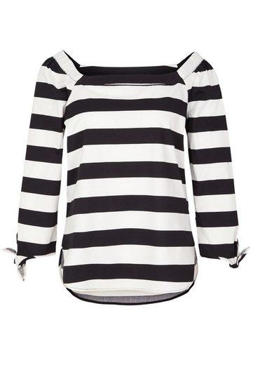 s.Oliver BLACK LABEL Gemusterte Off Shoulder-Bluse
