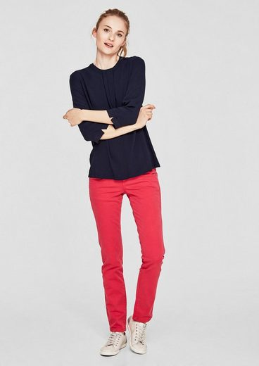S.oliver Red Label Crêpe-shirt With Drapery
