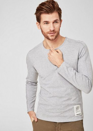s.Oliver RED LABEL Slim: Meliertes Henley-Shirt