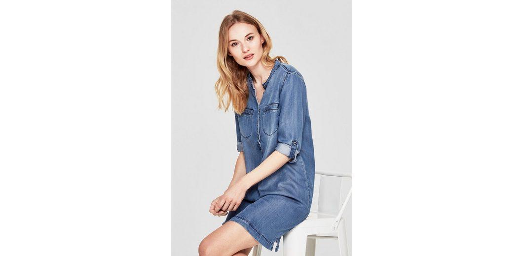 Mode Zum Verkauf s.Oliver RED LABEL Jeanskleid aus Lyocell-Denim Spielraum Vorbestellung CcfxQ