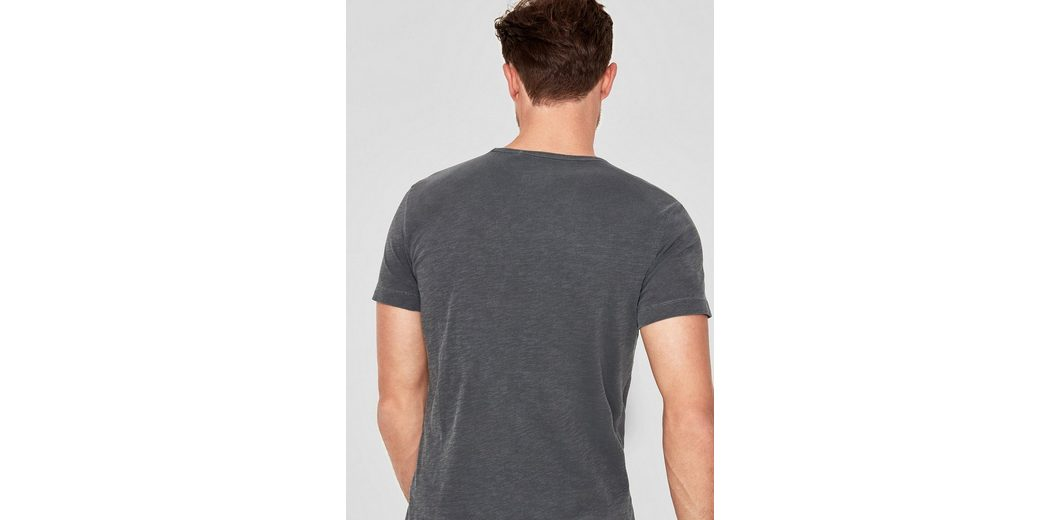 s.Oliver RED LABEL Slub Yarn-Shirt mit Print Insbesondere Rabatt hASx2