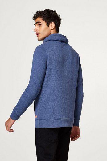 EDC BY ESPRIT Melierter Sweater mit Tunnelkragen