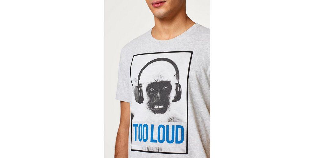 Geschäft Zum Verkauf Freiraum Für Schön EDC BY ESPRIT Meliertes Jersey-Shirt mit Foto-Print Angebote Online NhuSi5K2zf