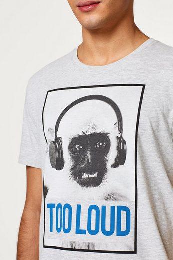EDC BY ESPRIT Meliertes Jersey-Shirt mit Foto-Print