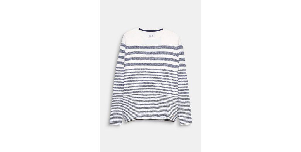 Erhalten Verkauf Online Kaufen Auslass Veröffentlichungstermine EDC BY ESPRIT Maritim gestreifter Sweater aus 100% Baumwolle Günstig Kaufen Für Billig UOlUuoW84d