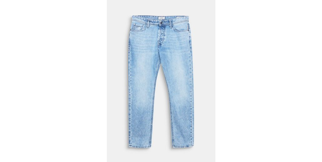 EDC BY ESPRIT Lässige Jeans mit Wascheffekten, aus Baumwolle