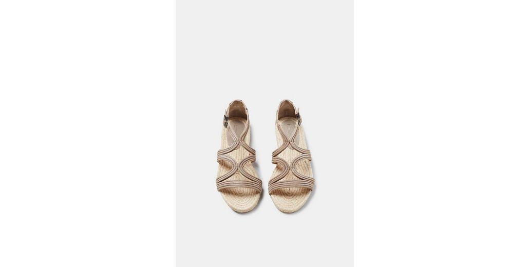 ESPRIT Sandale mit ESPRIT Bast Sohle Riemen und Sandale Leder F7wUq5Hn