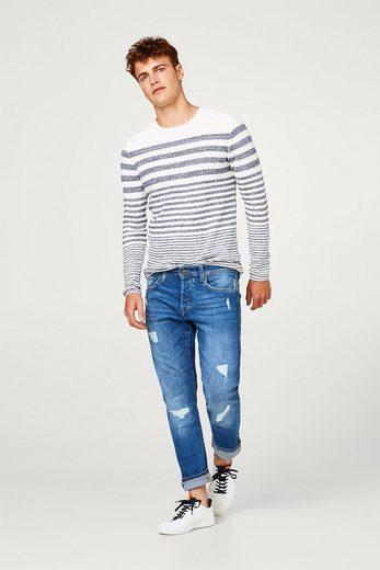 EDC BY ESPRIT Maritim gestreifter Sweater aus 100% Baumwolle
