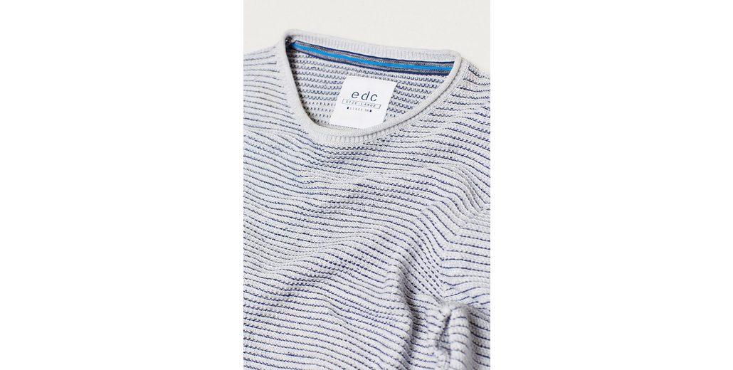 EDC BY ESPRIT Strukturierter Sweater aus Baumwollstrick Rabatt Authentisch niTzv6vxP
